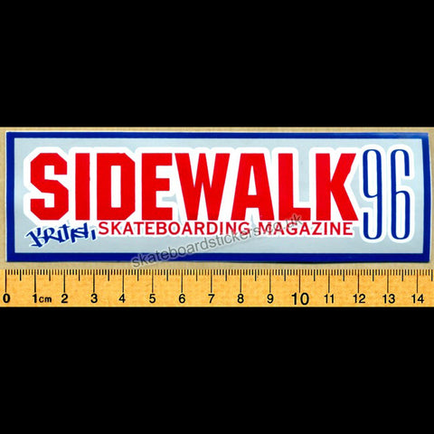 Sidewalk Magazine Old School Skateboard Sticker - SkateboardStickers.com