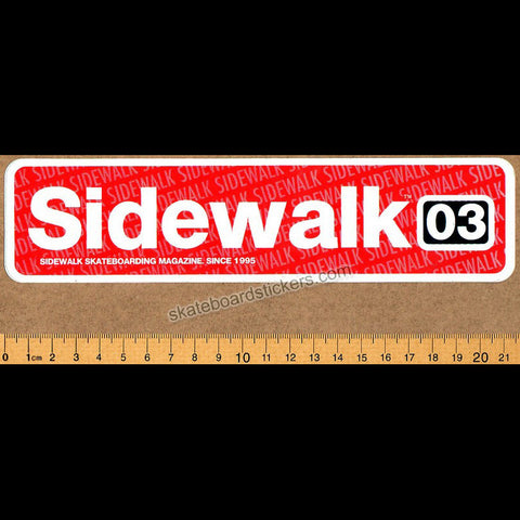 Sidewalk Magazine Skateboard Sticker - SkateboardStickers.com