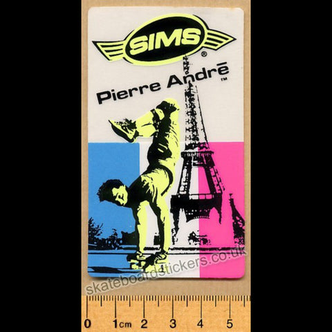 Sims Pierre Andre Old School Rare 80s Vintage Skateboard Sticker