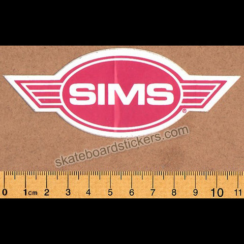 Sims Old School Rare Vintage Skateboard Sticker