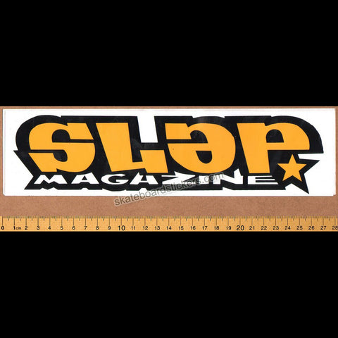 Slap Magazine Old School Skateboard Sticker - large yellow