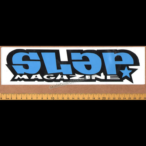 Slap Magazine Old School Skateboard Sticker - large blue