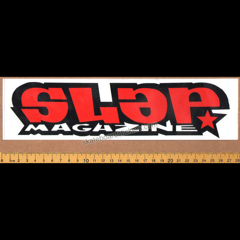 Slap Magazine Old School Skateboard Sticker - large red