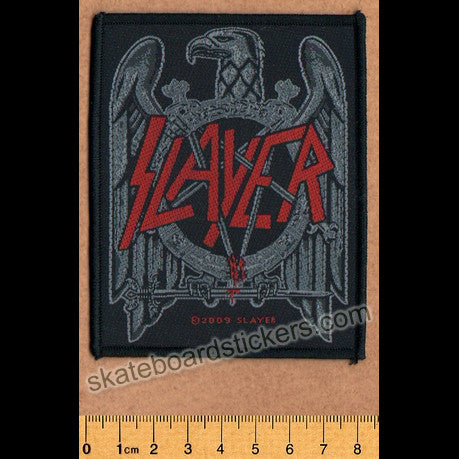 Slayer Sew-on Music Patch: Black Eagle - SkateboardStickers.com