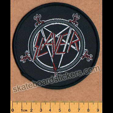 Slayer Sew-on Music Patch: Pentagram - SkateboardStickers.com