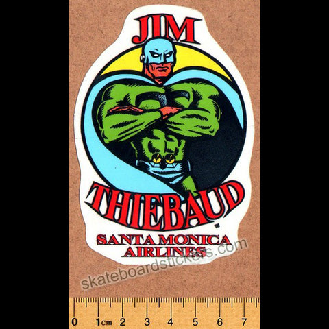 Santa Monica Airlines / SMA Old School Vintage Jim Thiebaud Skateboard Sticker