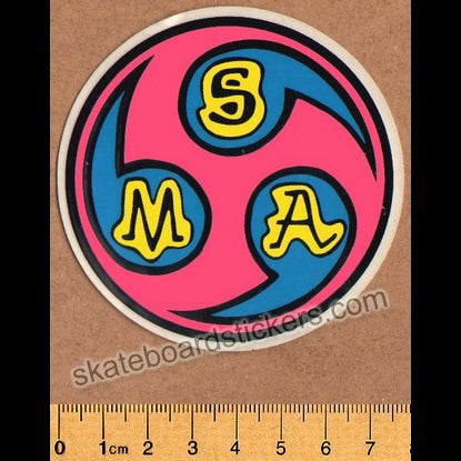 Santa Monica Airlines / SMA Old School Vintage Skateboard Sticker