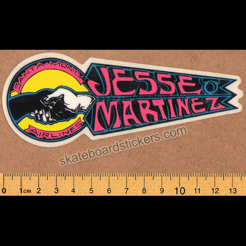 Santa Monica Airlines / SMA Jesse Martinez Old School Vintage Skateboard Sticker