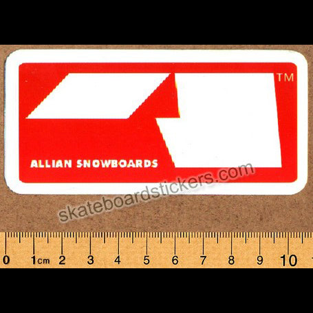 Allian Snowboard Sticker