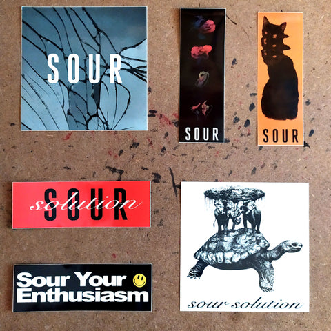 Sour Solution Sticker Pack of 6