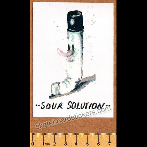 Sour Solution Skateboards Skateboard Sticker