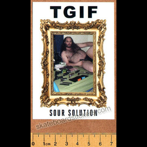 Sour Solution Skateboards Skateboard Sticker - TGIF