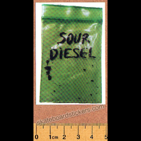 Sour Solution Skateboards Skateboard Sticker - Sour Diesel