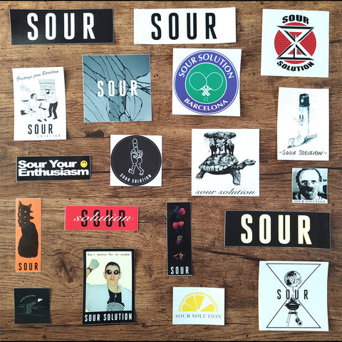 Sour Solution Skateboard Sticker Pack of 19