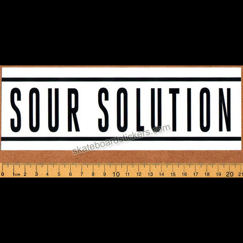 Sour Solution Skateboards Skateboard Sticker - Bumper Sticker