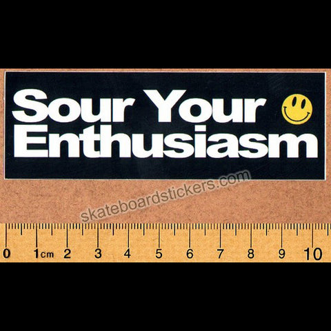 Sour Solution Skateboards Skateboard Sticker - Sour Your Enthusiasm