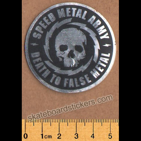 Speed Metal Skateboard Sticker