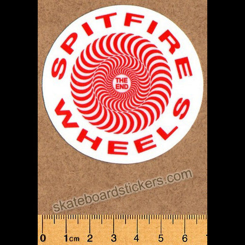 Spitfire Wheels Skateboard Sticker - The End - SkateboardStickers.com