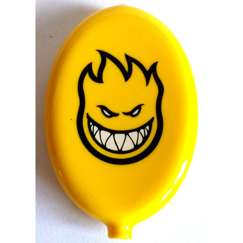 Spitfire Wheels Coin Pouch - Yellow Oval - SkateboardStickers.com  - 1