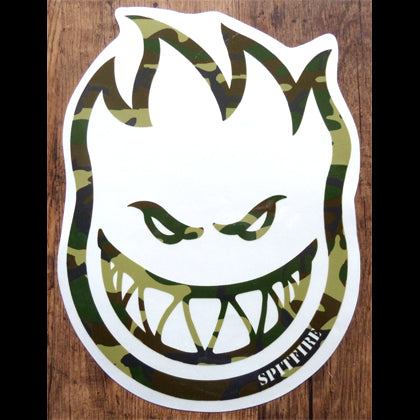 Large Spitfire Wheels Bighead Camo Skateboard Sticker