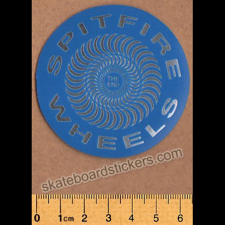 Spitfire Wheels - Classic Foil Skateboard Sticker - Blue