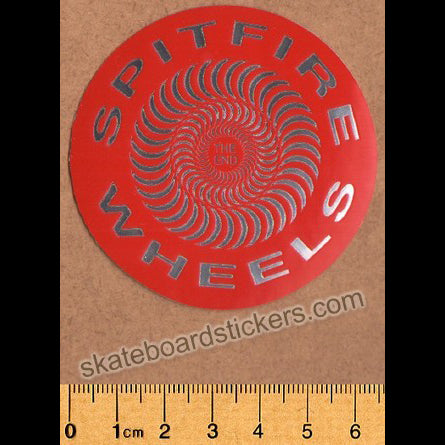 Spitfire Wheels - Classic Foil Skateboard Sticker - Red