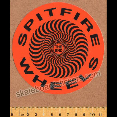Spitfire Wheels - Covert Classic Skateboard Sticker - Orange
