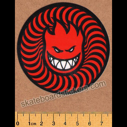 Spitfire Wheels - Swirl Head Skateboard Sticker - Red