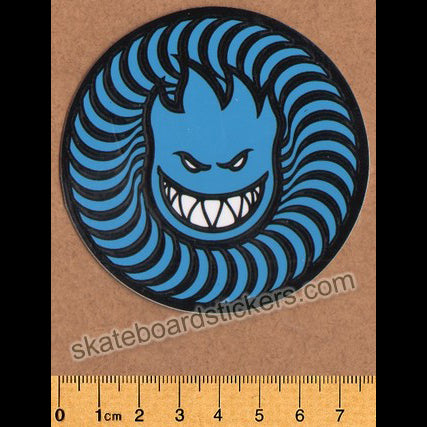 Spitfire Wheels - Swirl Head Skateboard Sticker - Blue