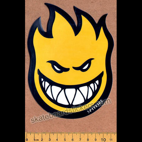 Spitfire Wheels Skateboard Sticker - Bighead Fireball Yellow