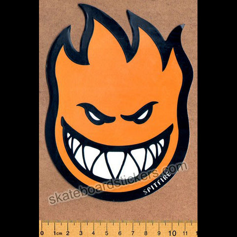 Spitfire Wheels Skateboard Sticker - Bighead Fireball Orange