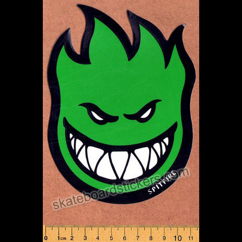 Spitfire Wheels Skateboard Sticker - Bighead Fireball Green