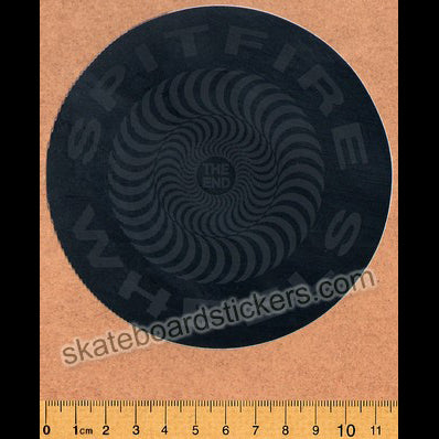 Spitfire Wheels - Skateboard Sticker Classic Blackout