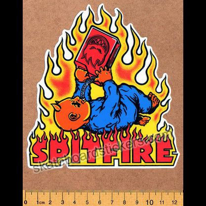 Spitfire Wheels - Skateboard Sticker Demon Seed
