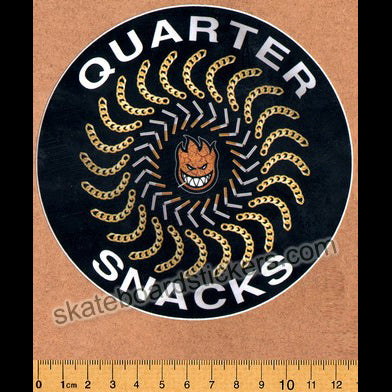 Spitfire Wheels X Quartersnacks - Quarter Classic Skateboard Sticker