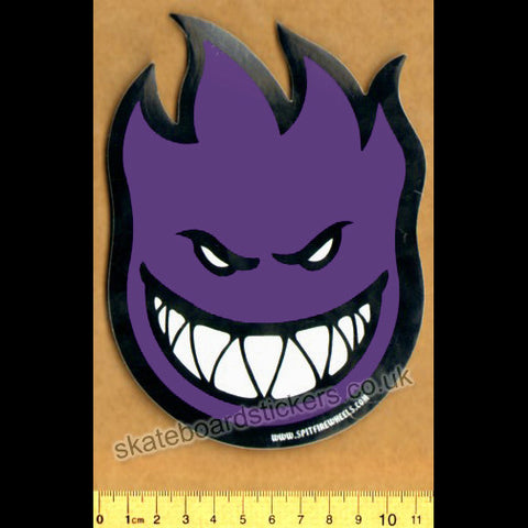 Spitfire Wheels Skateboard Sticker - Bighead Purple - SkateboardStickers.com