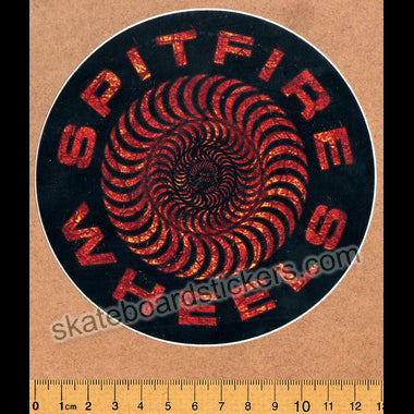 Spitfire Wheels Skateboard Sticker - Embers Classic