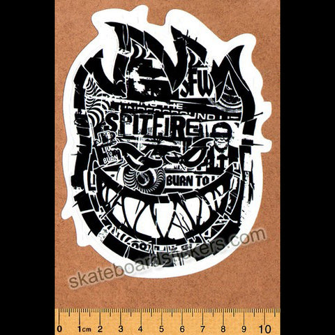 Spitfire Wheels Skateboard Sticker - Ransom Bighead