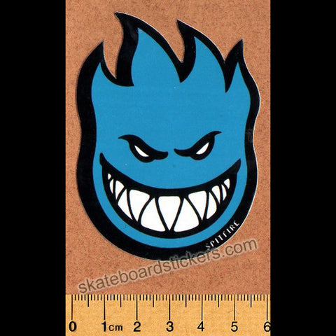 Spitfire Wheels Small Bighead Skateboard Sticker - Blue