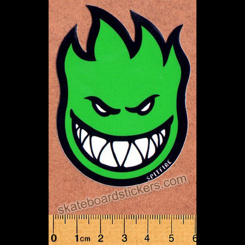 Spitfire Wheels Small Bighead Skateboard Sticker - Green
