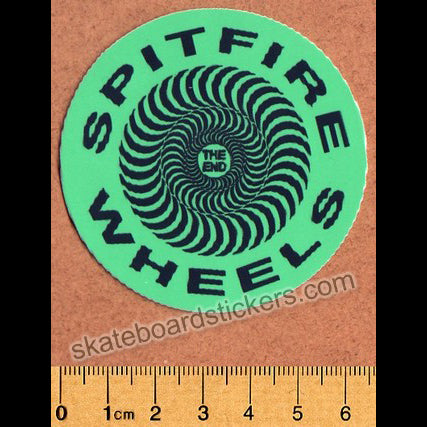 Spitfire Wheels Skateboard Sticker - Classic Green