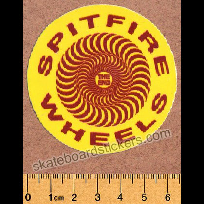 Spitfire Wheels Skateboard Sticker - Classic Yellow