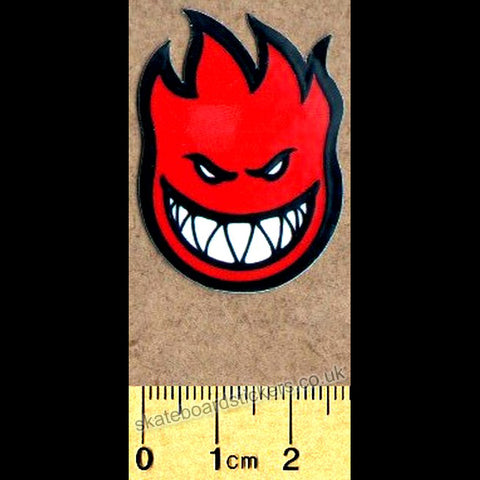 Spitfire Wheels Mini Bighead Skateboard Sticker - Red