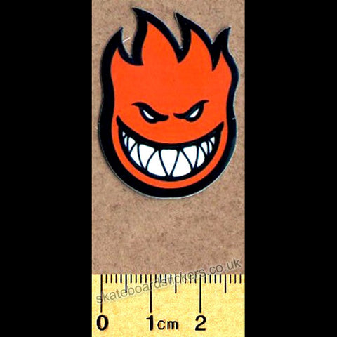 Spitfire Wheels Mini Bighead Skateboard Sticker - Orange