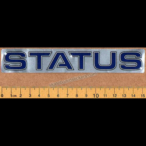 Status Skateboard Sticker - SkateboardStickers.com