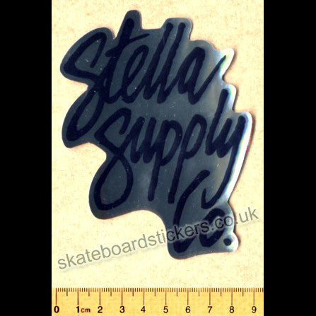 Stella Supply Co. Skateboard Sticker - SkateboardStickers.com