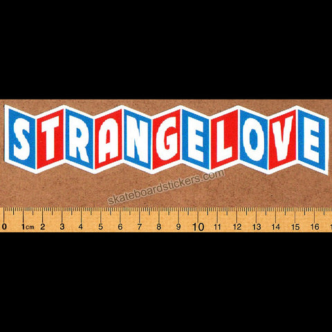 StrangeLove Skateboard Sticker