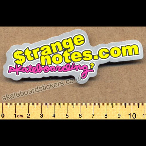 Strange Notes Skateboard Sticker - SkateboardStickers.com