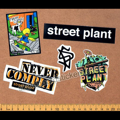 Street Plant Sticker Pack - 5 Skateboard Stickers - SkateboardStickers.com
