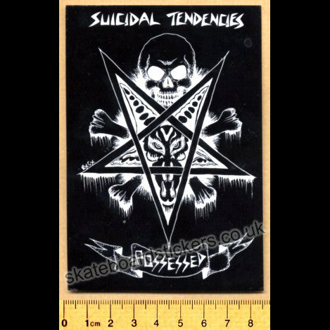 Suicidal Tendencies Punk Rock Metal Music Band Skateboard Sticker - SkateboardStickers.com